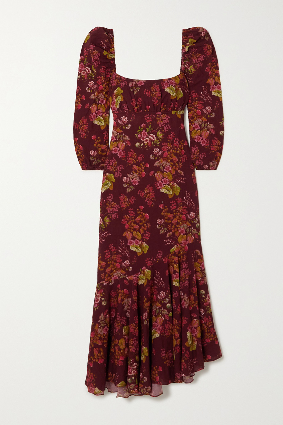 Peony + NET SUSTAIN floral-print organic cotton-blend dress