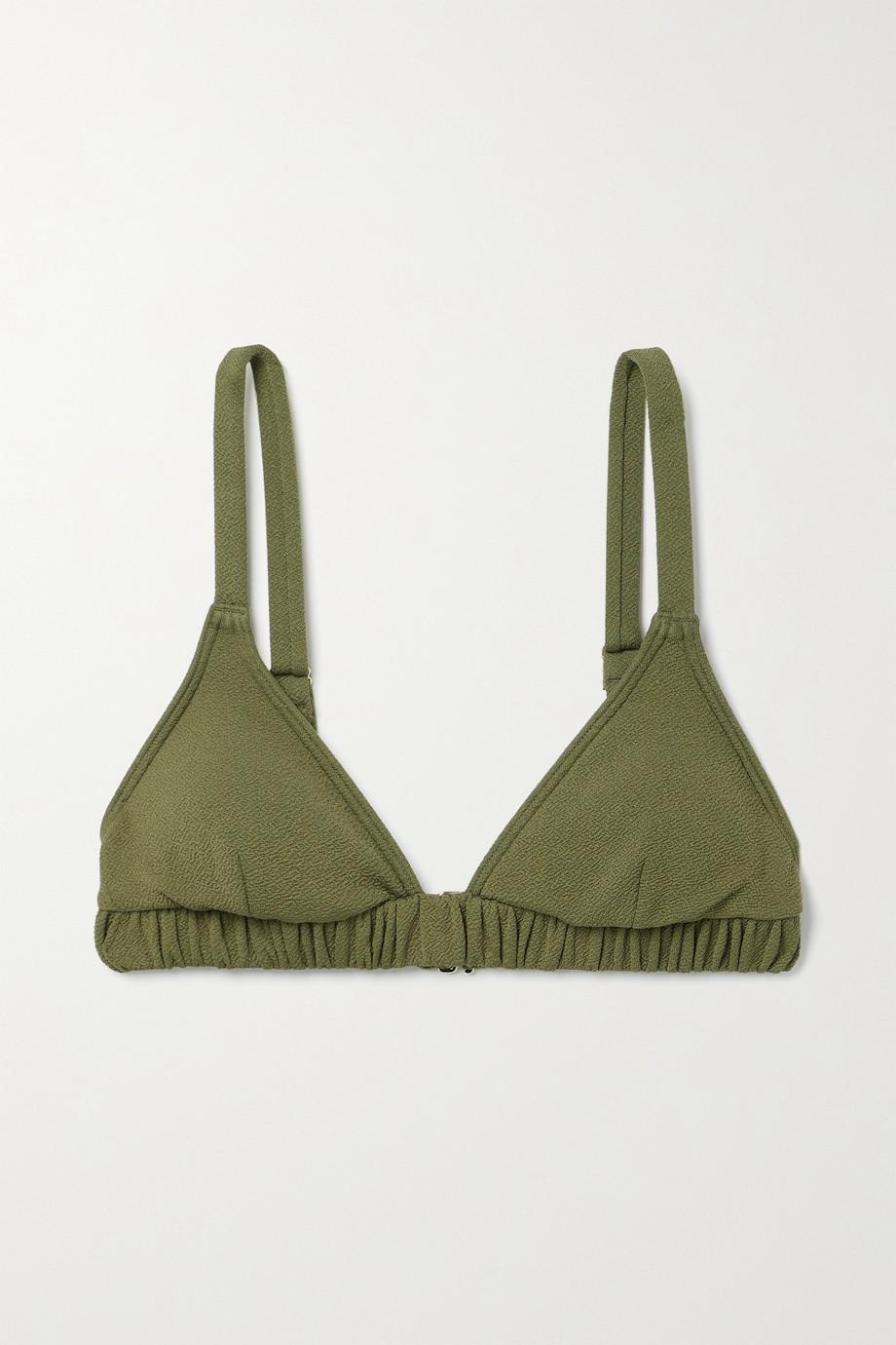 Peony Haut de bikini triangle en crépon de REPREVE stretch - NET SUSTAIN