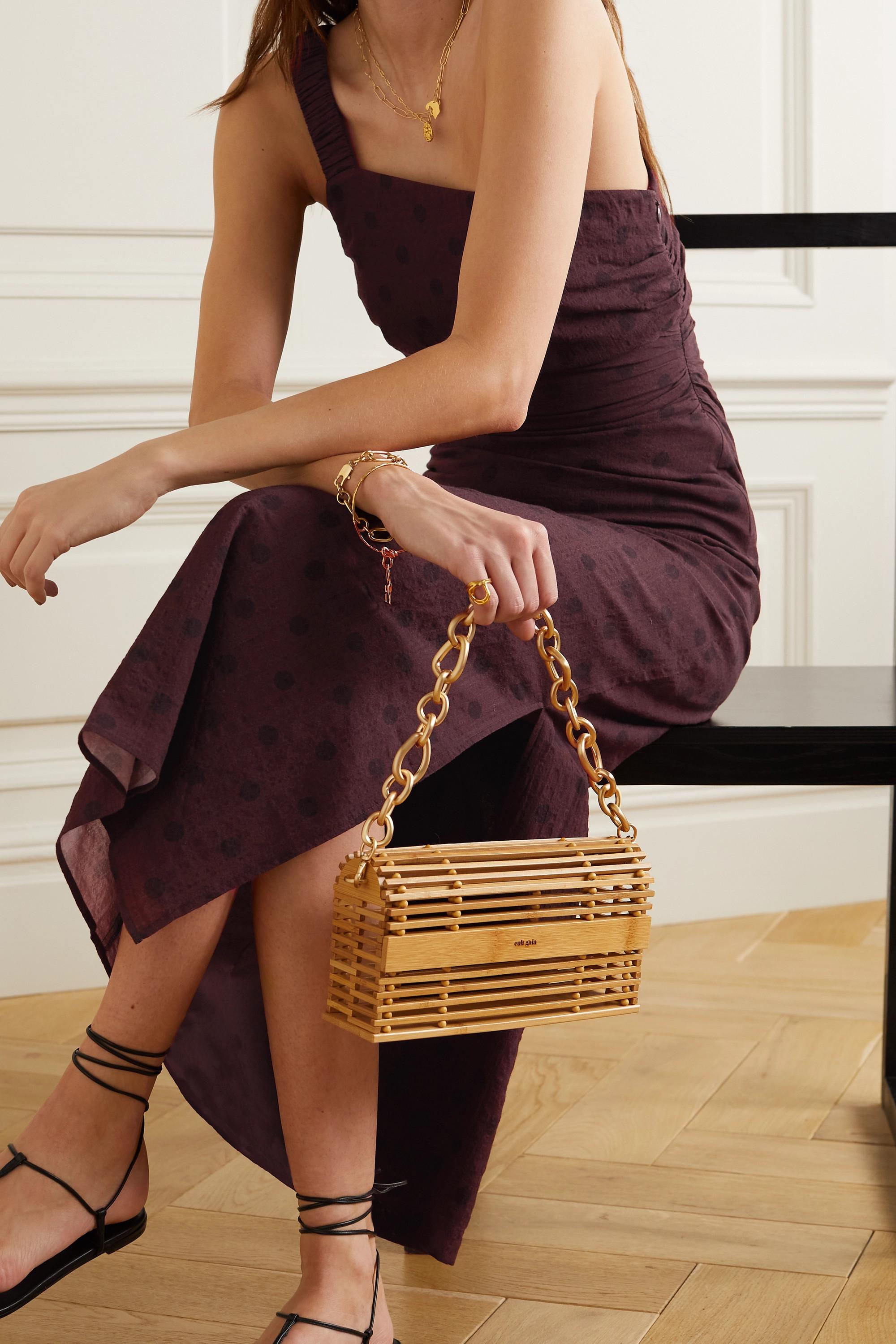 Peony + NET SUSTAIN polka-dot organic cotton-blend midi dress