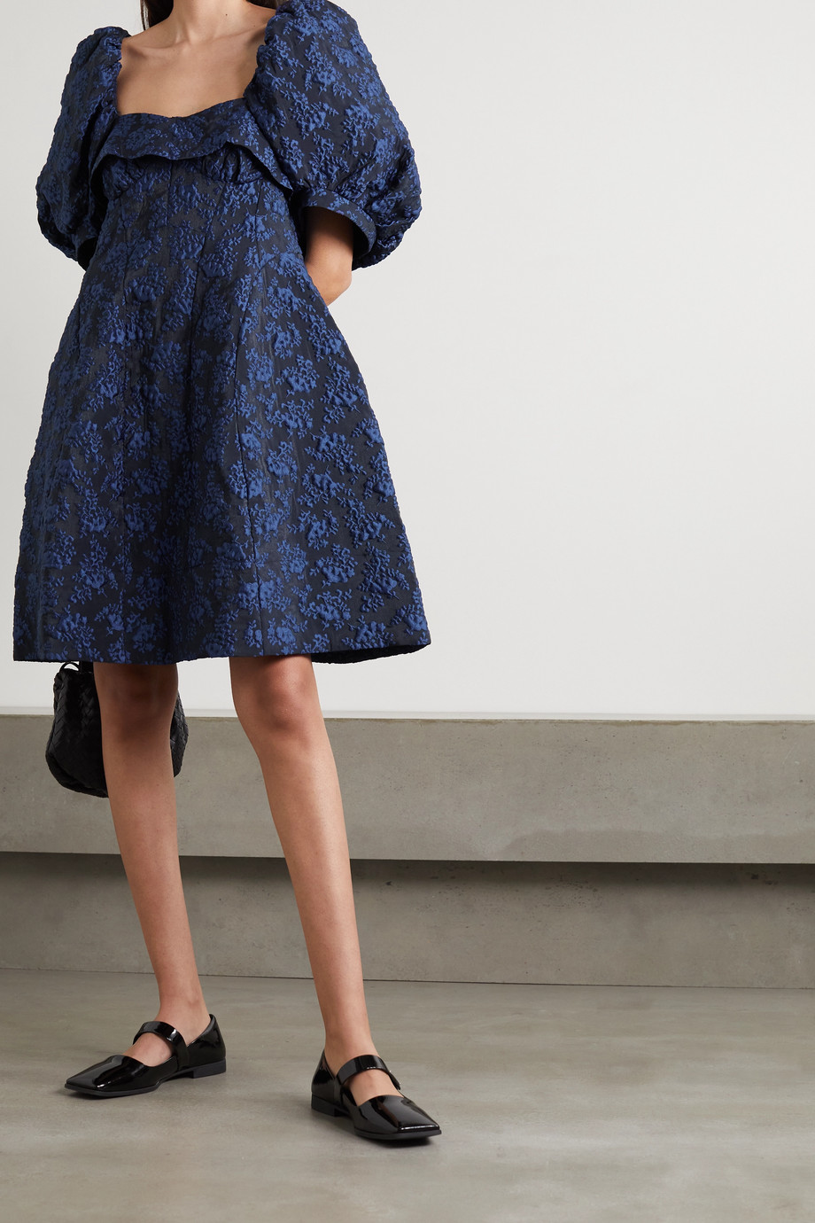 Simone Rocha Ruffled cloqué mini dress