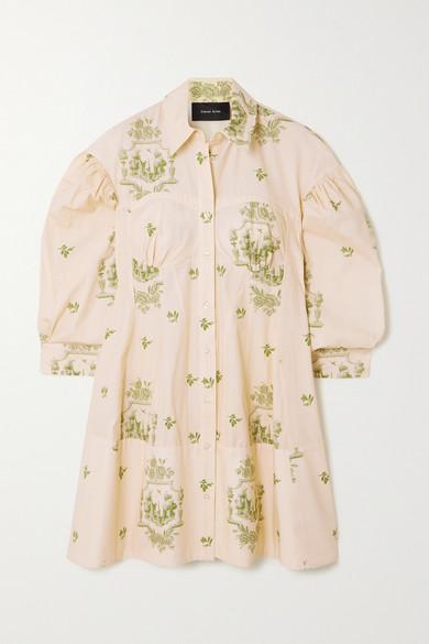 Simone Rocha Dresses COTTON-JACQUARD SHIRT DRESS