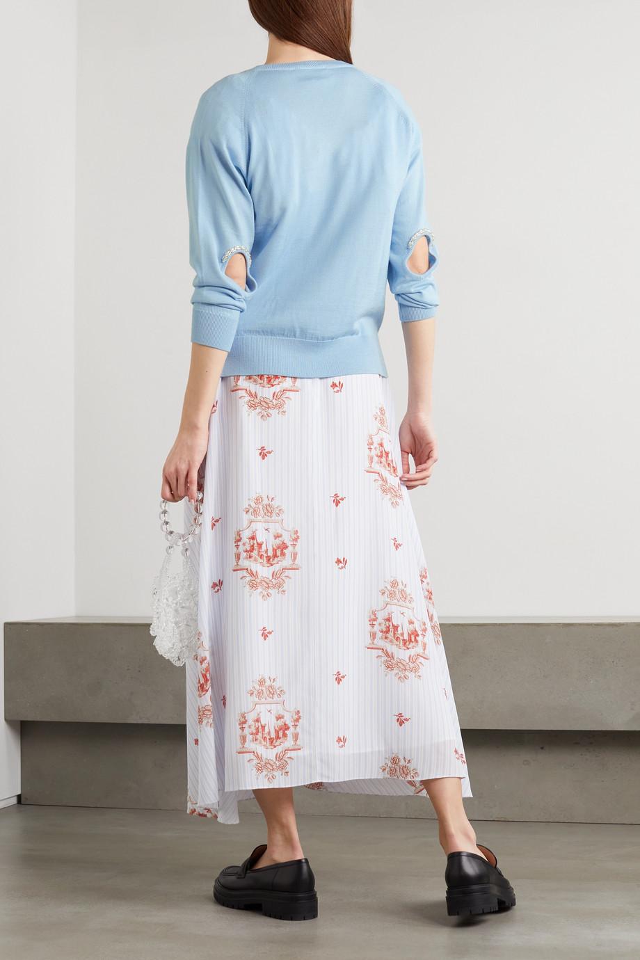 Simone Rocha Embellished cutout wool and silk-blend sweater