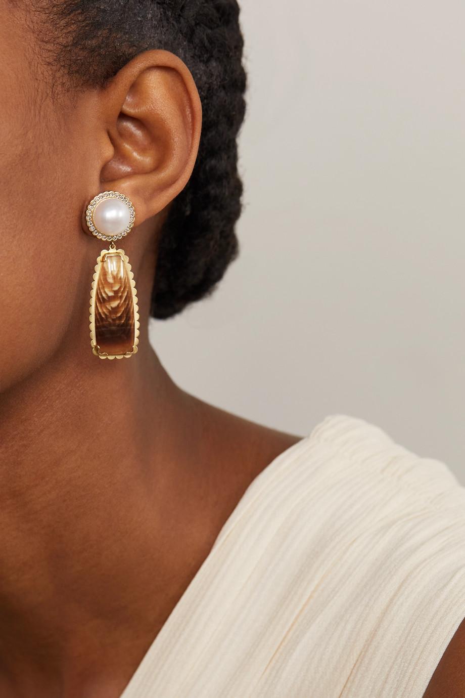 Guita M Ohrringe aus 18 Karat Gold mit mehreren Steinen