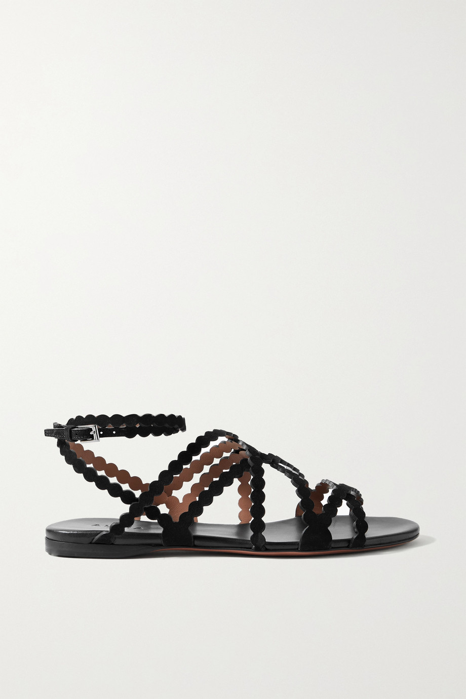 Alaïa Scalloped suede sandals
