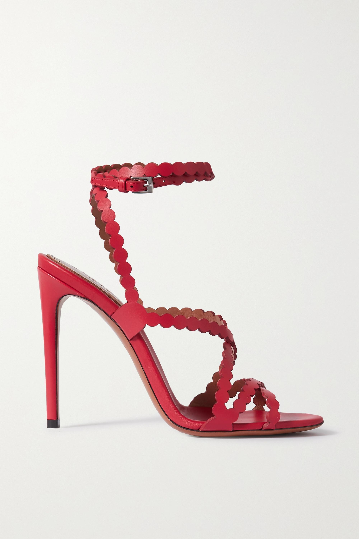 Alaïa 110 Sandalen aus lasergeschnittenem Leder