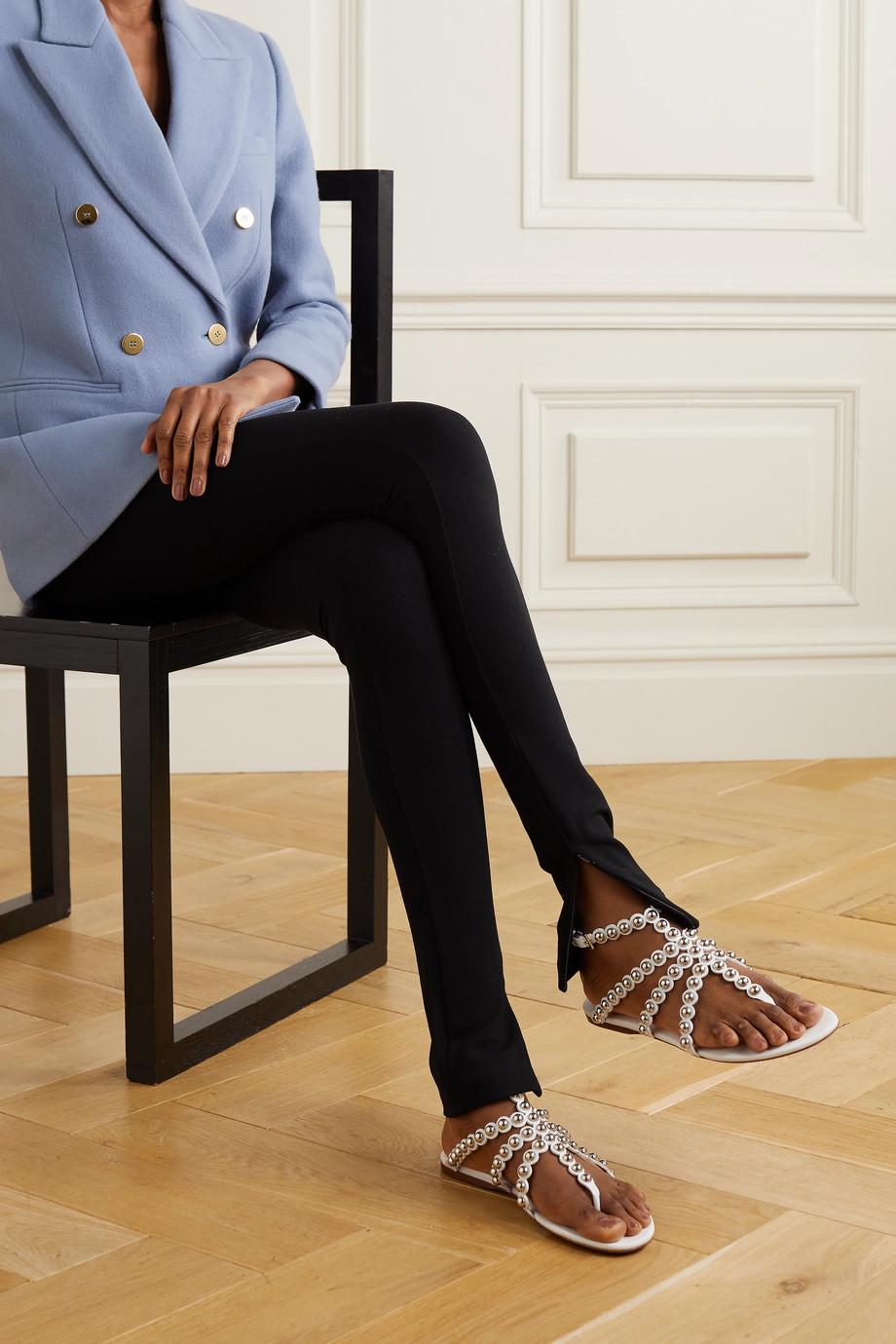 Alaïa Studded laser-cut leather sandals