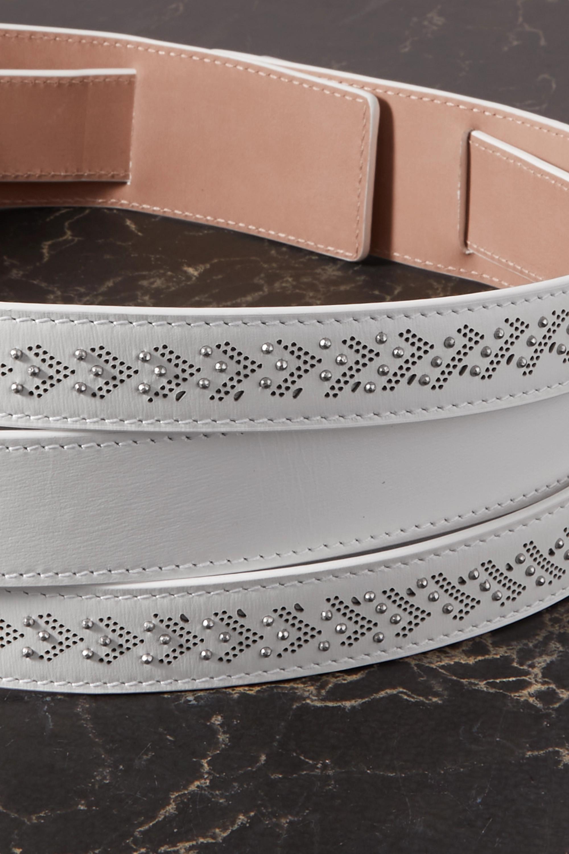 Alaïa Wandelbarer Taillengürtel aus lasergeschnittenem Leder mit Verzierungen