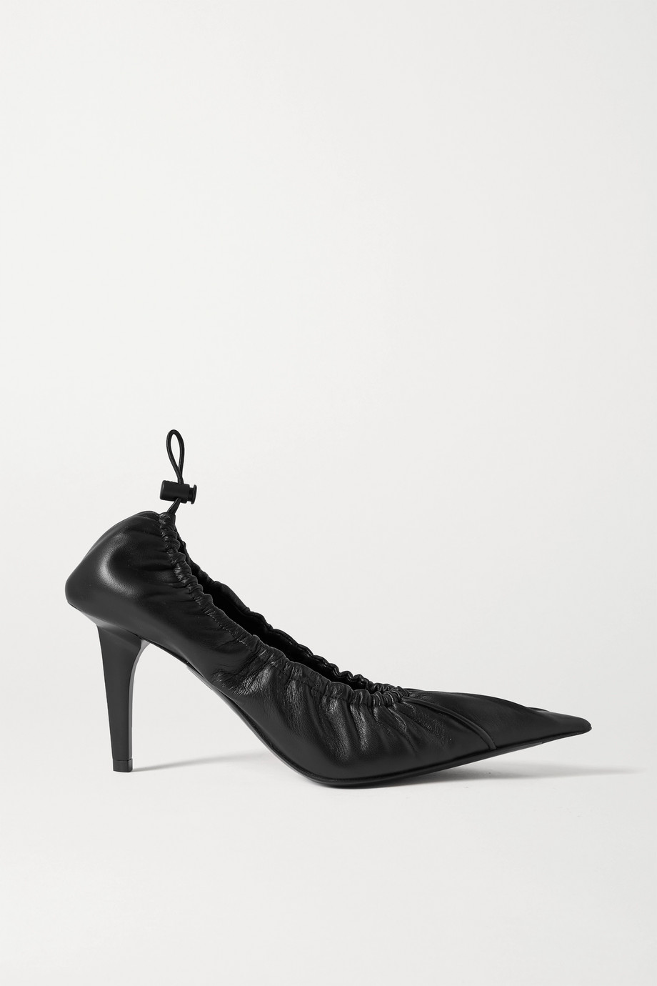 Balenciaga Scrunch Knife Pumps aus Leder mit Raffungen