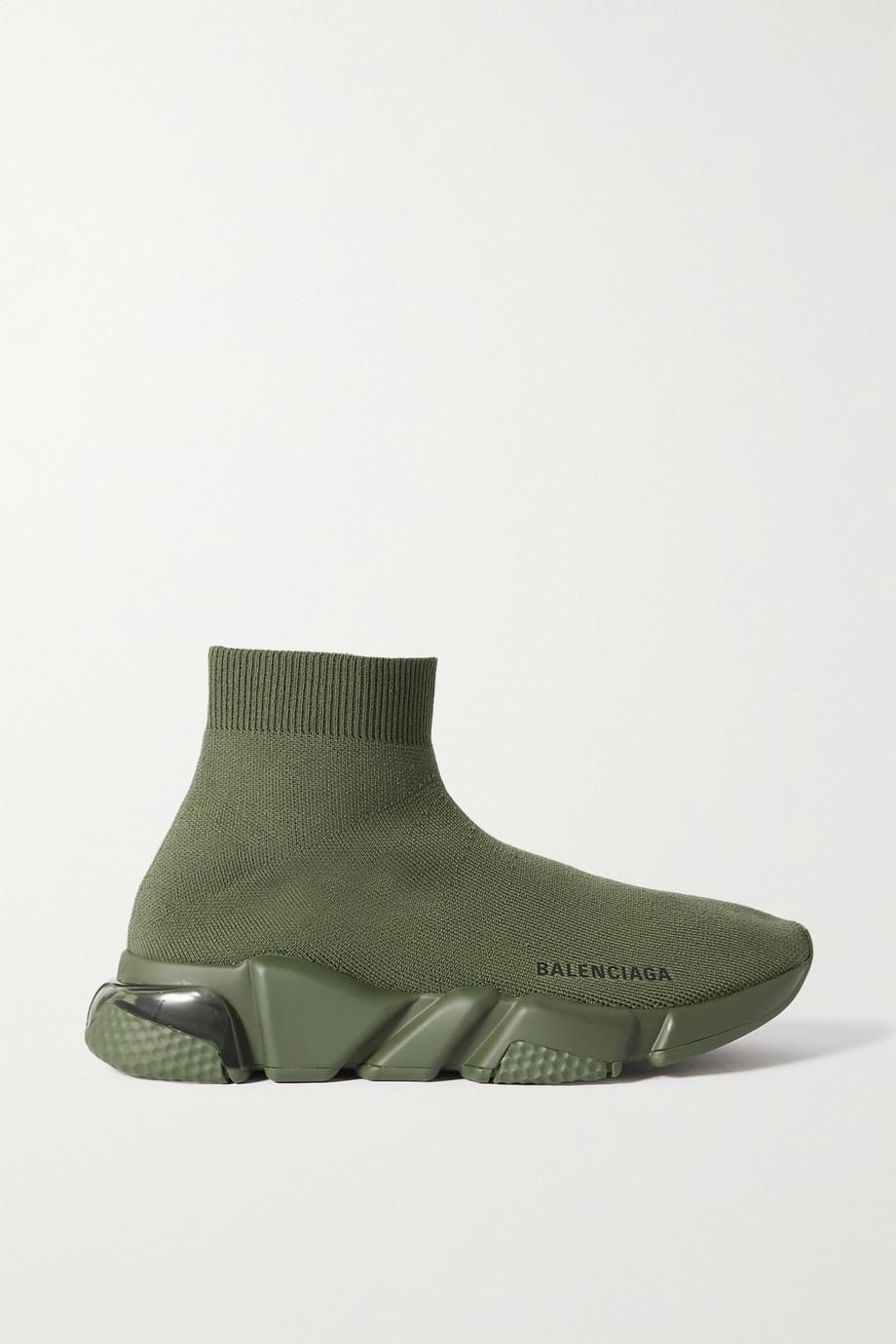 Balenciaga Speed LT logo-print stretch-knit high-top sneakers