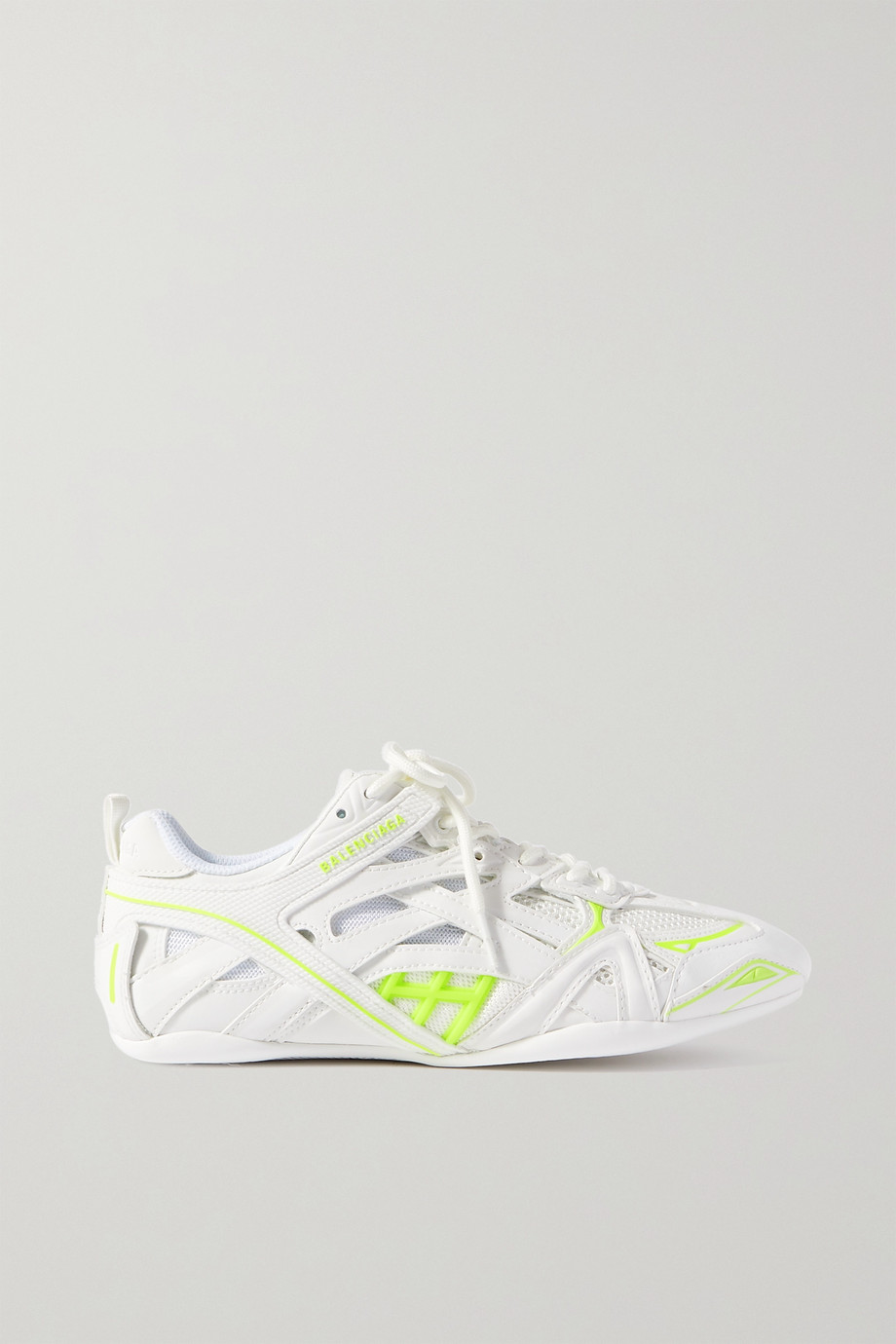 Balenciaga Closed logo-print leather, rubber, mesh and suede sneakers