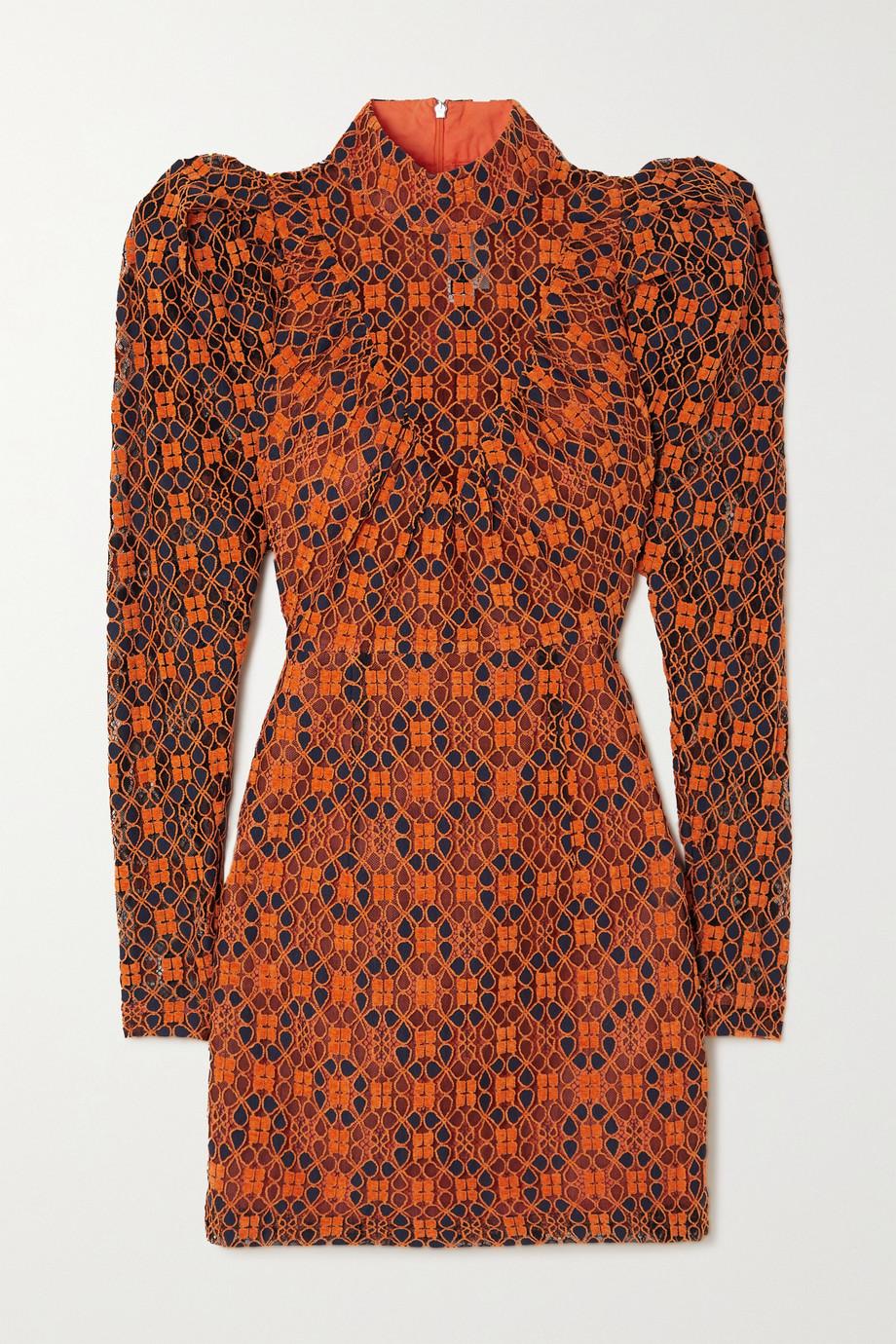ROTATE Birger Christensen Ida flocked lace mini dress