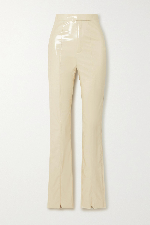 ROTATE Birger Christensen Jewel faux patent-leather slim-leg pants
