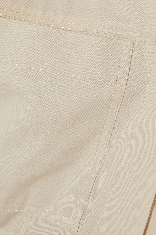 LVIR Cotton and linen-blend twill playsuit
