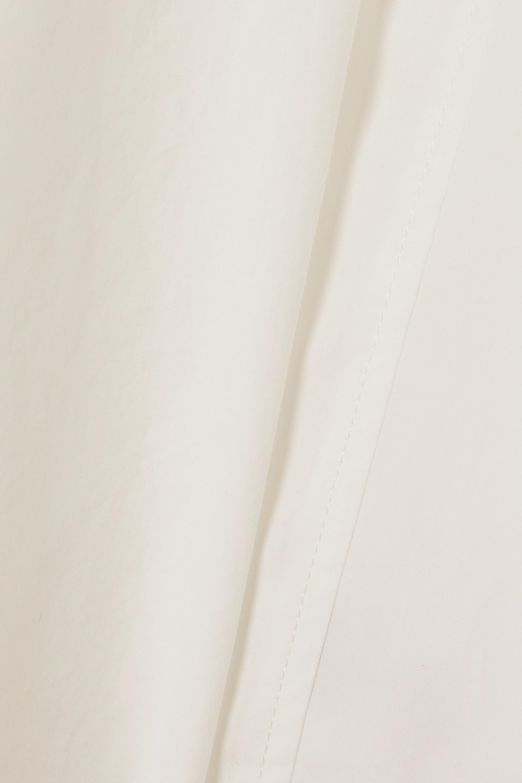 LVIR Faux leather-trimmed cotton top