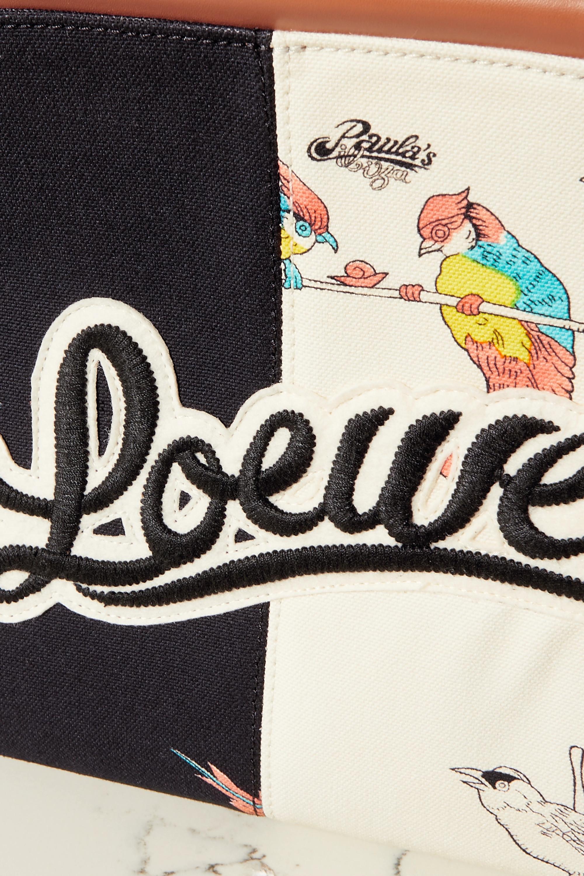 Loewe Sac à main en toile à appliqué et à finitions en cuir Cushion Small x Paula's Ibiza