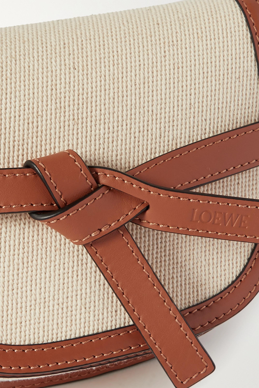 Loewe + Paula's Ibiza Gate mini cotton-canvas and leather shoulder bag
