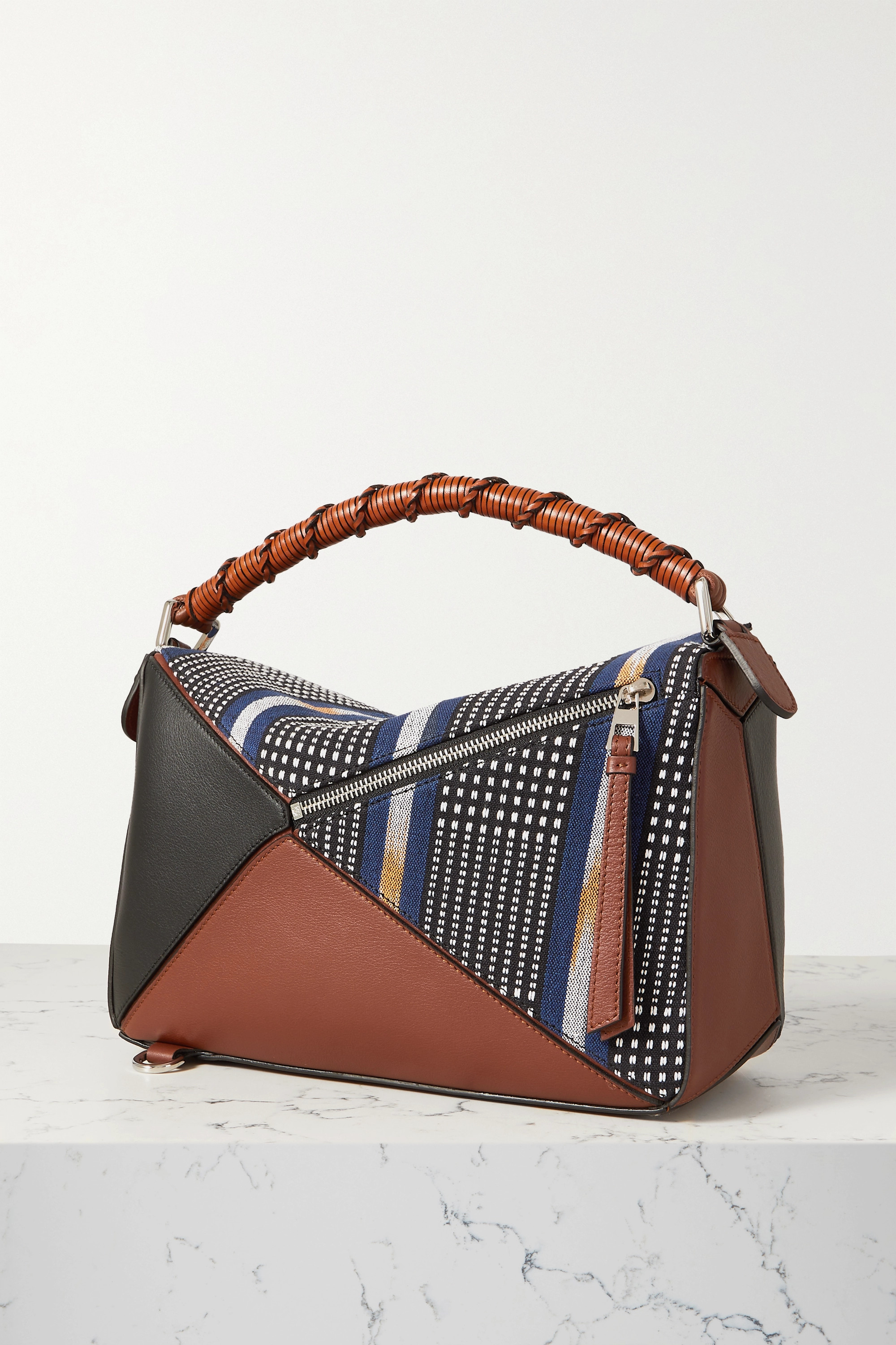 Loewe + Paula's Ibiza Puzzle Craft patchwork leather and canvas shoulder bag
