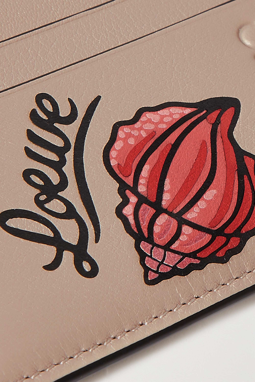 Loewe + Paula's Ibiza Shell printed leather cardholder
