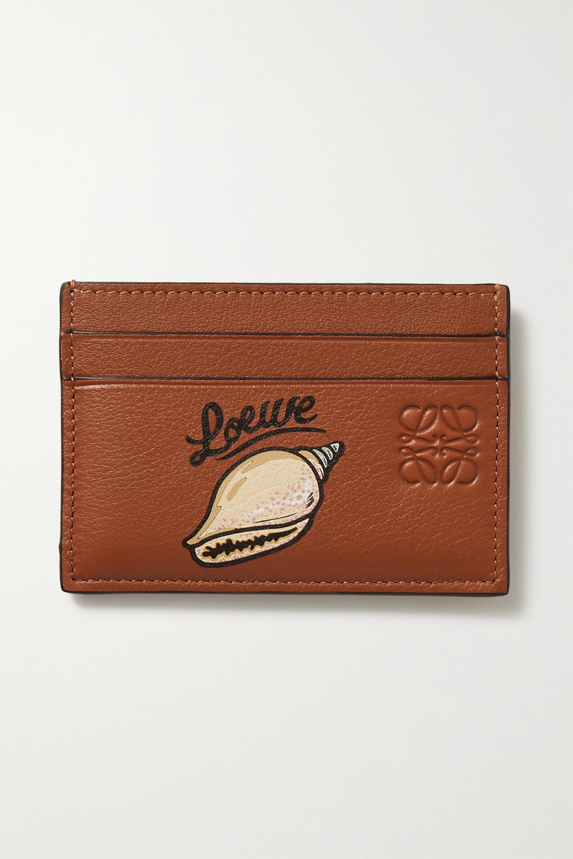 Loewe + Paula's Ibiza printed textured-leather cardholder
