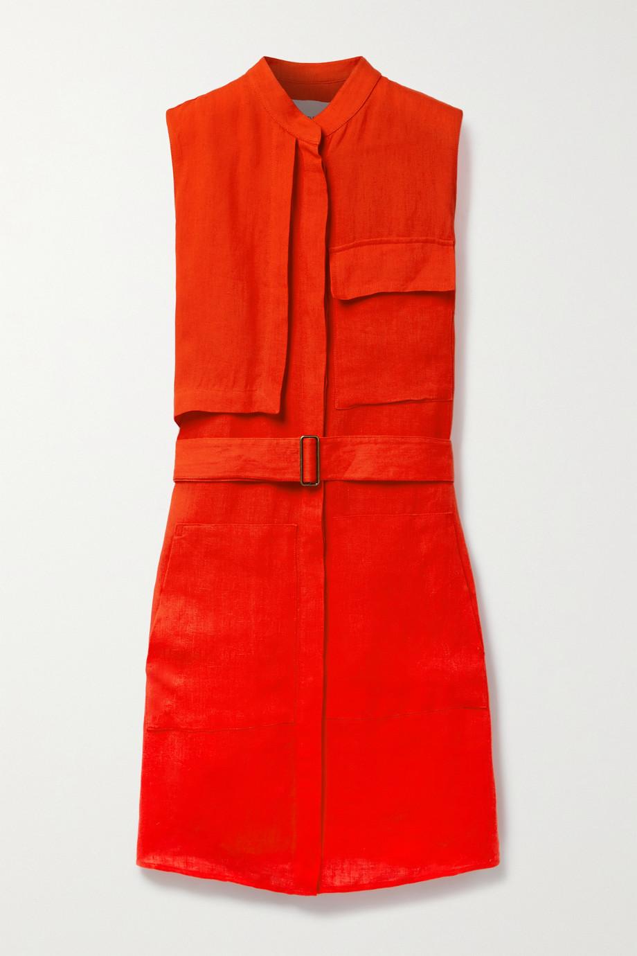 BONDI BORN Sergeant belted linen mini dress