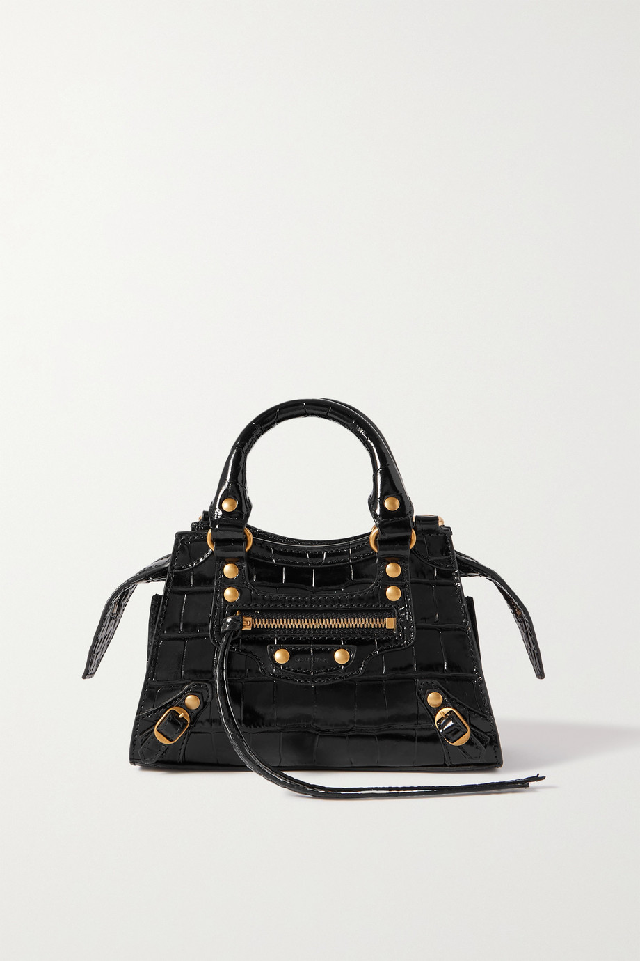 Balenciaga Neo Classic City nano croc-effect leather tote