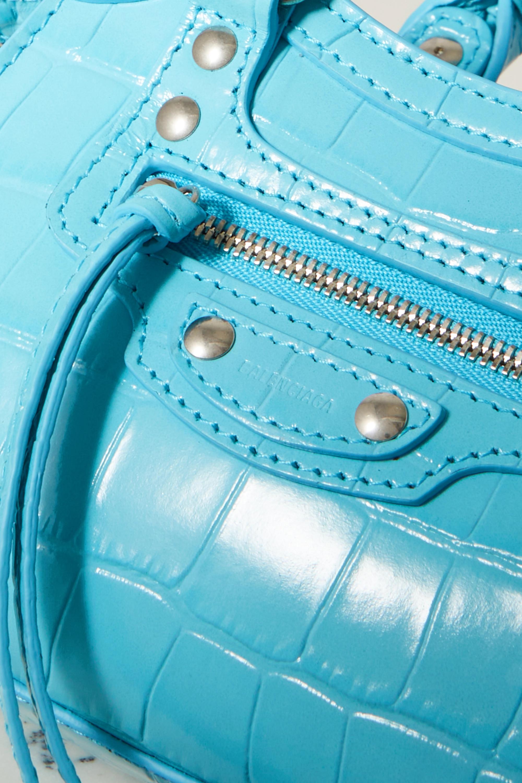 Balenciaga Neo Classic City nano croc-effect leather tote