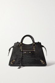 Balenciaga Neo Classic City medium croc-effect patent-leather tote