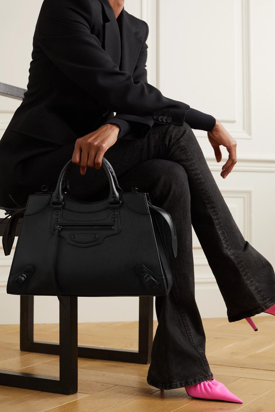 Balenciaga Sac à main en cuir texturé Neo Classic City Medium