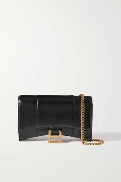 Balenciaga Wallets HOURGLASS LEATHER SHOULDER BAG