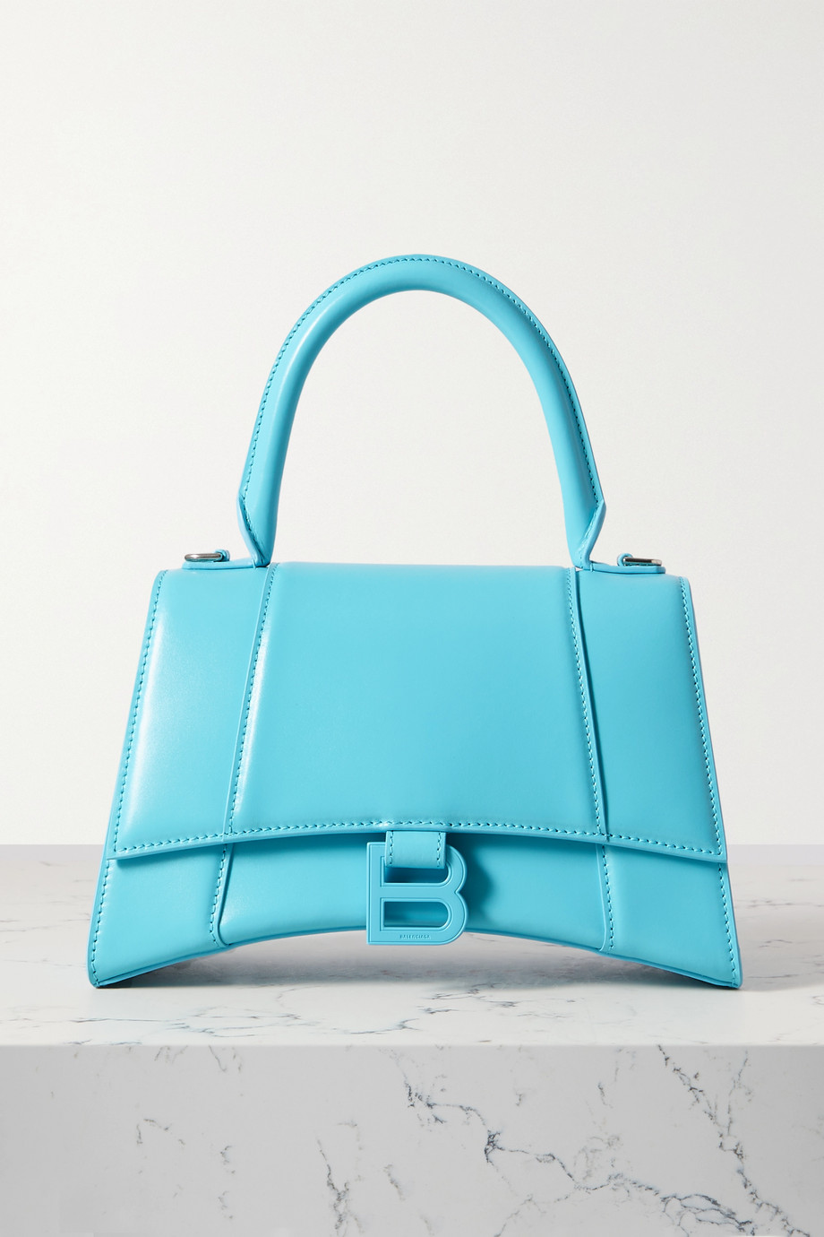 Balenciaga Hourglass small leather tote