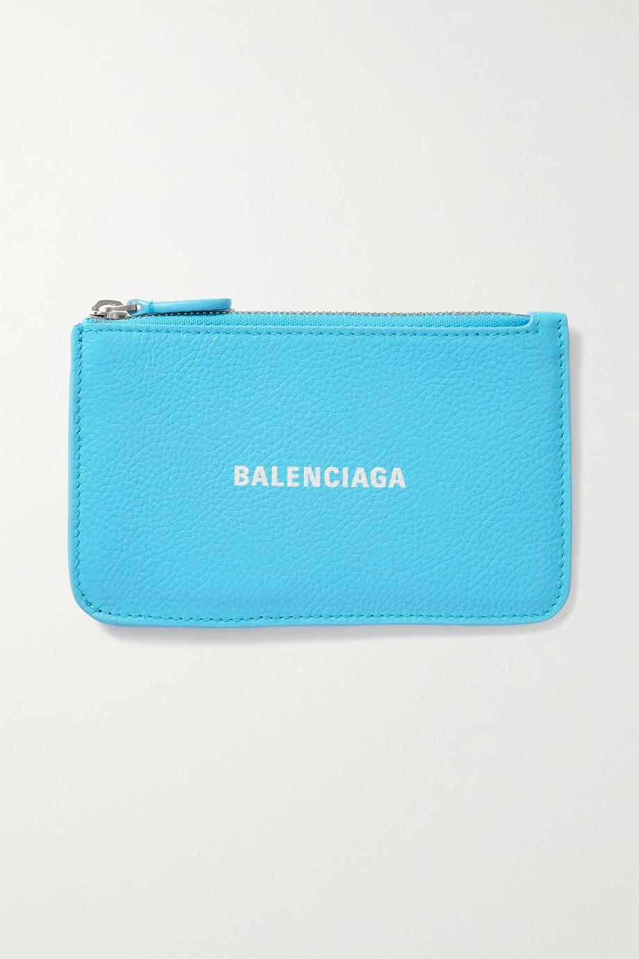 Balenciaga Portefeuille en cuir texturé imprimé Cash