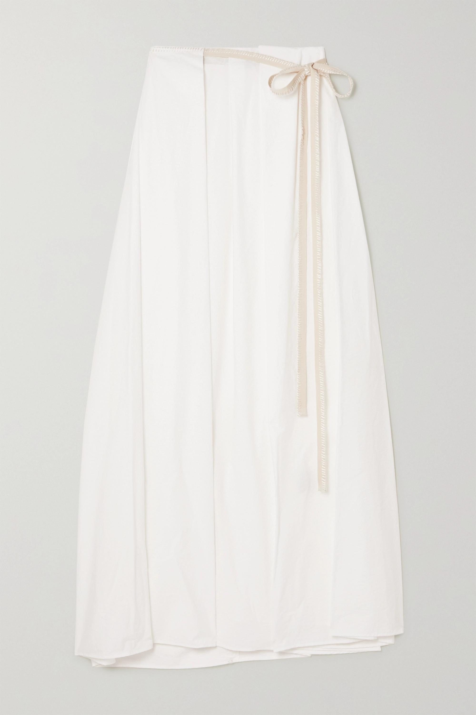 Acne Studios Cotton-blend poplin wrap maxi skirt