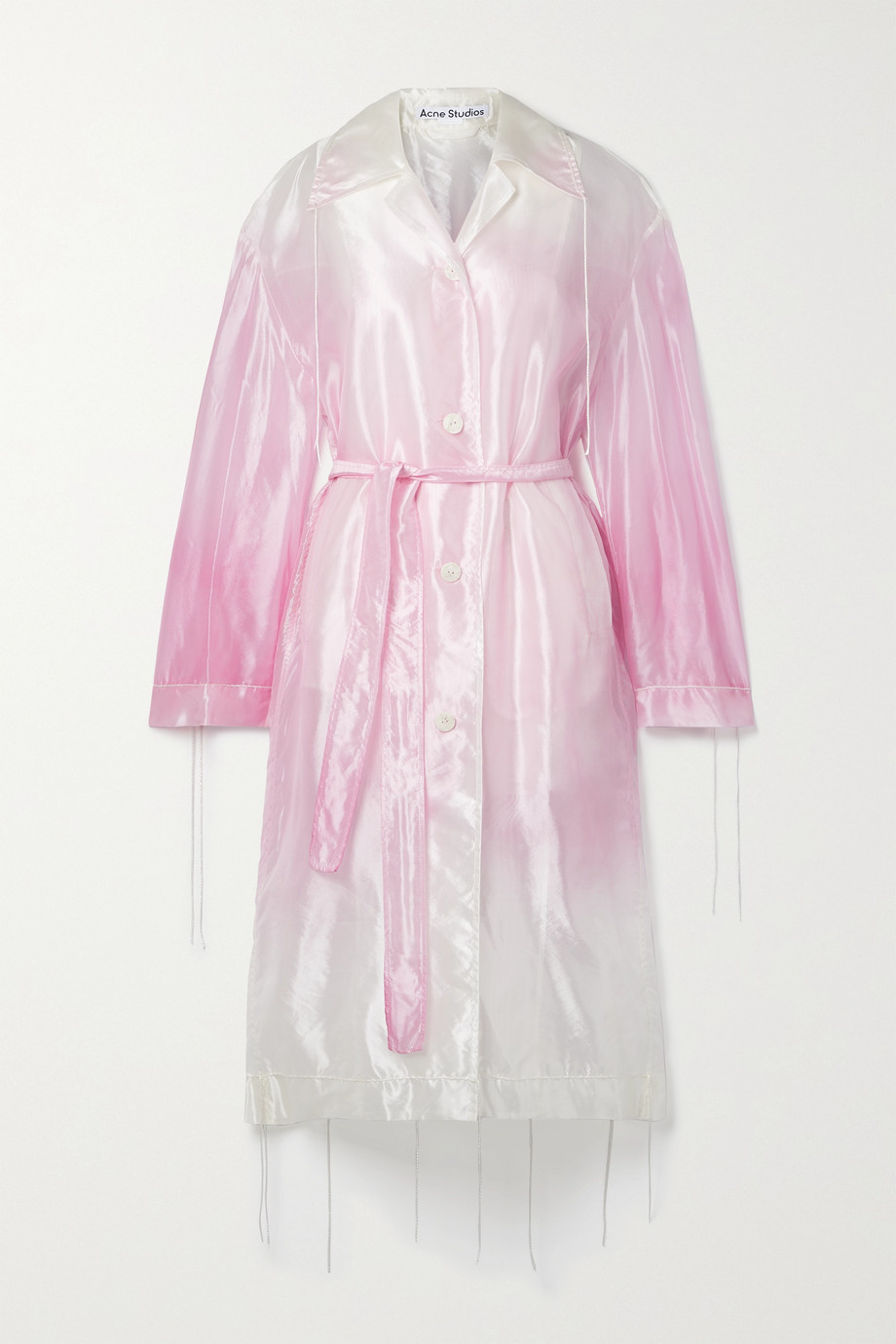 Acne Studios Belted ombré organza trench coat