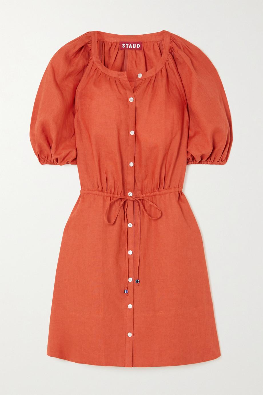 STAUD Vincenza linen mini dress