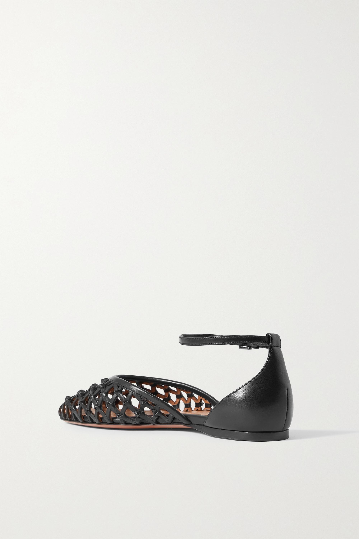 Alaïa Woven leather ballet flats