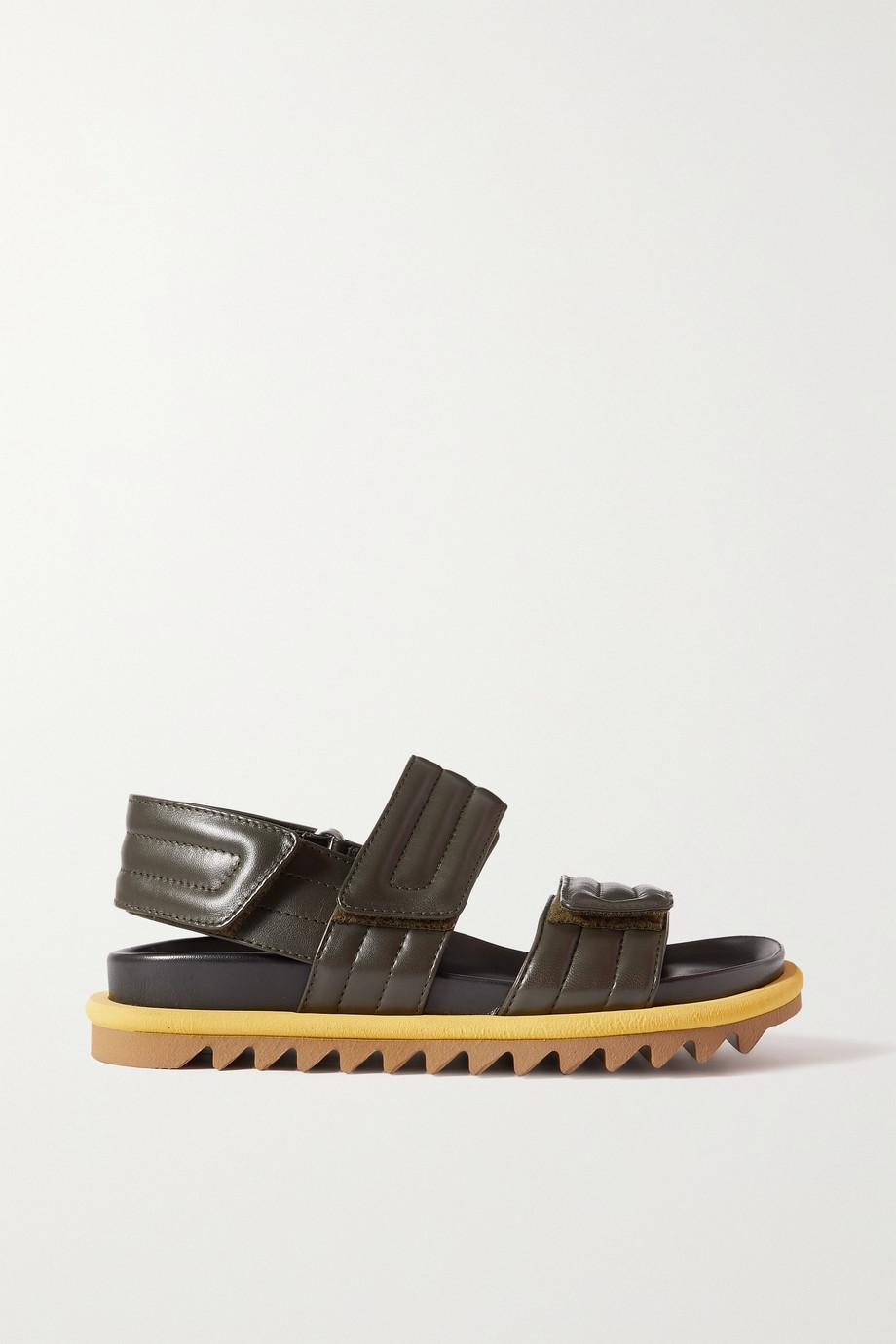 Dries Van Noten Sandalen aus gestepptem Leder