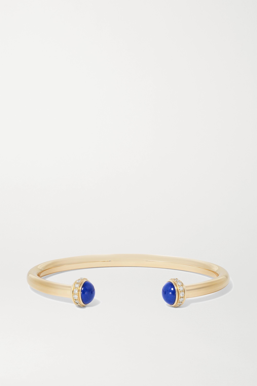 Piaget Possession Armspange aus 18 Karat Gold mit Lapislazuli und Diamanten