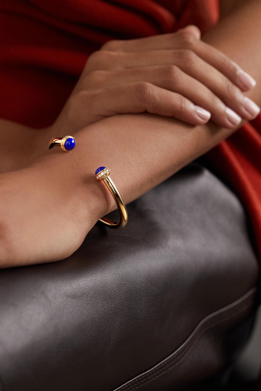 Piaget Possession 18-karat gold, lapis lazuli and diamond cuff