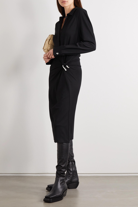 Bottega Veneta Robe midi en jersey stretch à fronces et à ornements