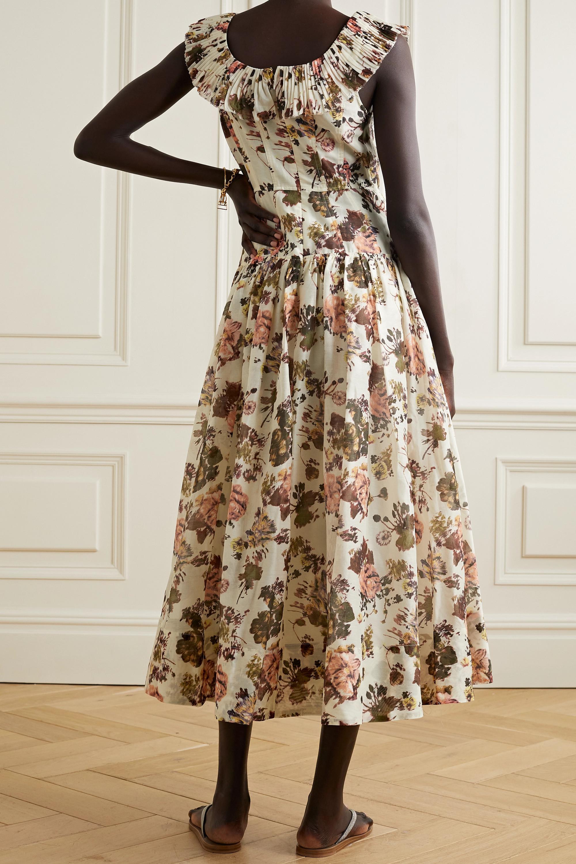Ulla Johnson Coretta ruffled floral-print cotton and silk-blend midi dress