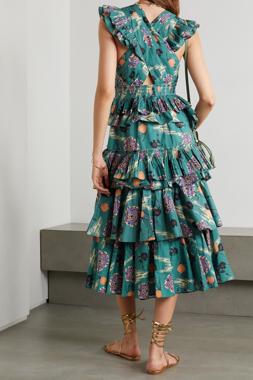 Ulla Johnson Robe en popeline de coton à imprimé fleuri Aurore
