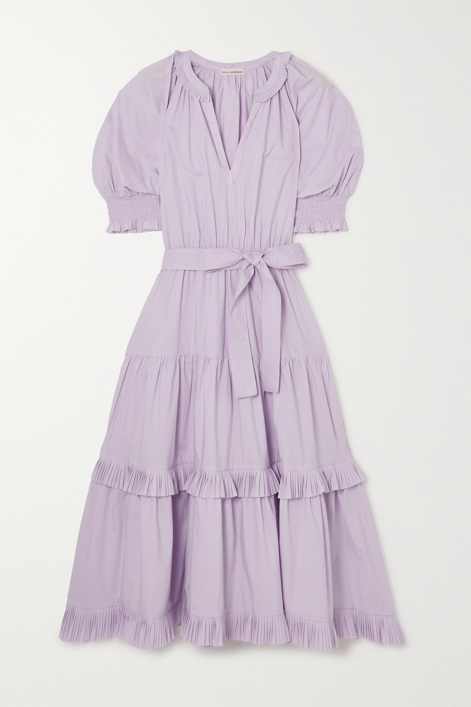 Ulla Johnson Dasha belted tiered cotton-poplin midi dress