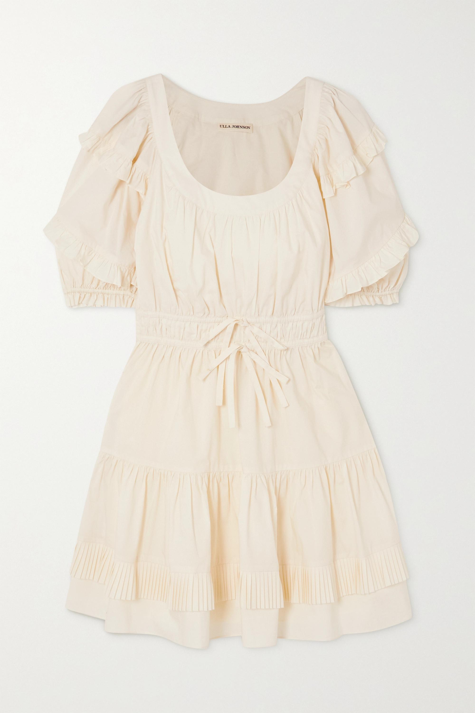 Ulla Johnson Naomi ruffled cotton-poplin mini dress
