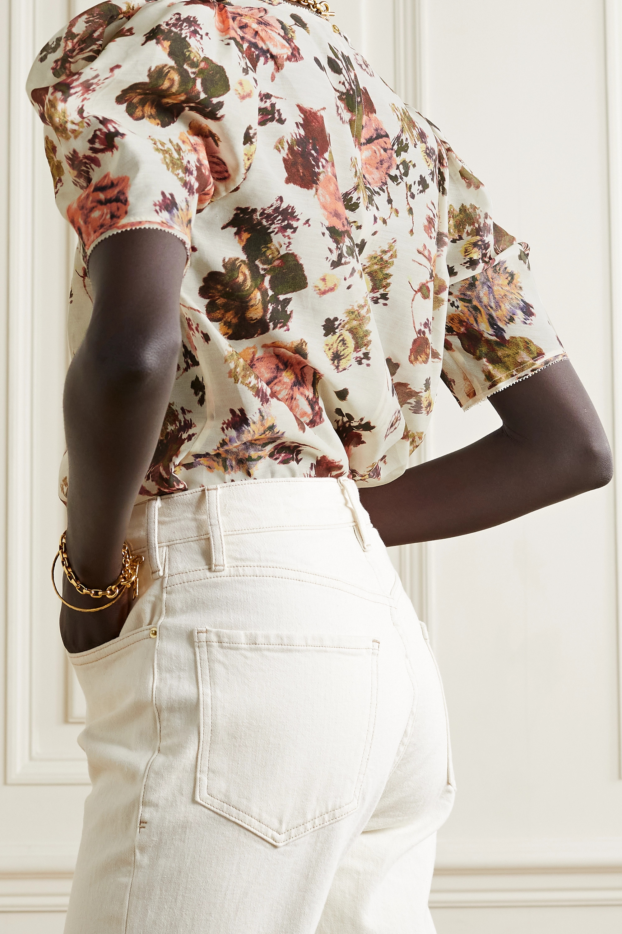 Ulla Johnson Lise floral-print cotton and silk-blend top