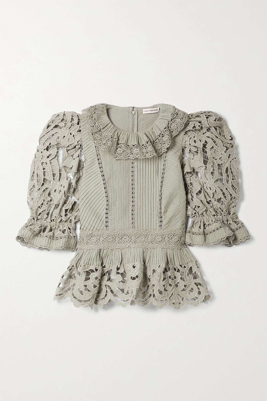 Ulla Johnson Mildred broderie anglaise linen and cotton-blend blouse