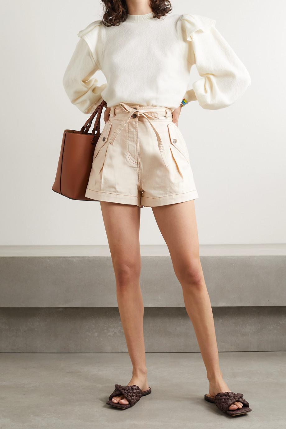 Ulla Johnson Alec belted denim shorts