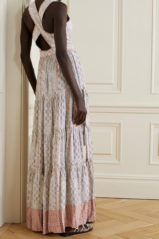 Ulla Johnson Mirai Robe aus glänzendem Crêpe mit Print