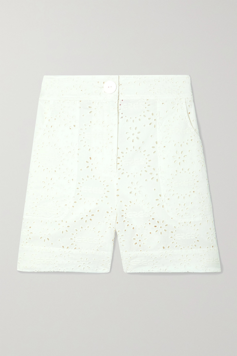Eres Laureate broderie anglaise cotton shorts