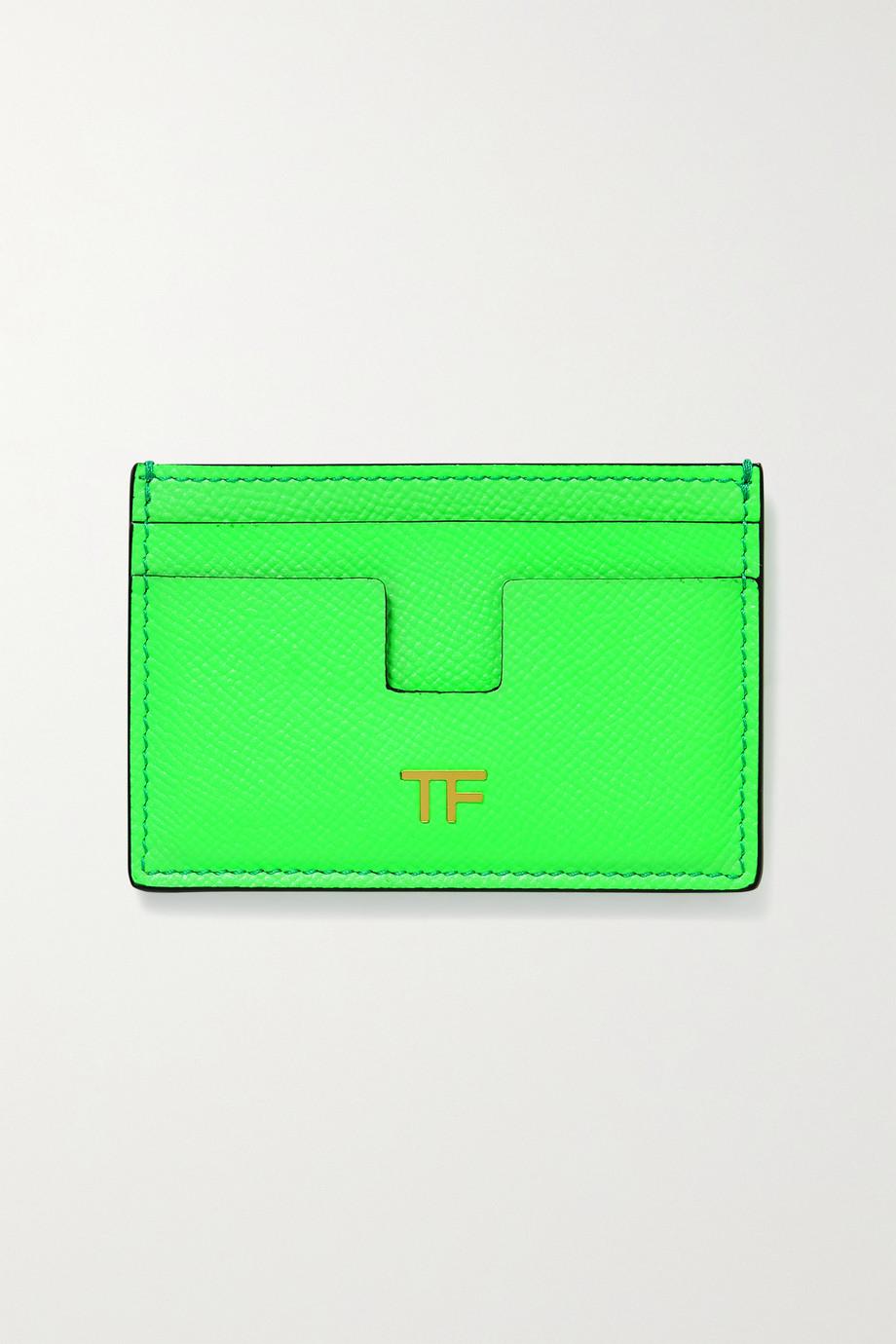 TOM FORD Porte-cartes en cuir texturé