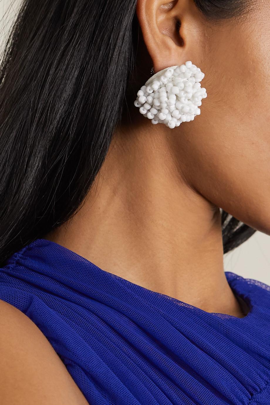 Dries Van Noten Boucles d'oreilles en perles